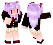 【Minecraft】 うどんげスキンスクショ【東方】