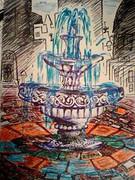 設計不備の噴水