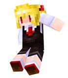 【Minecraft】 ルーミアスキンスクショ【東方】