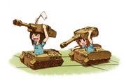戦車ごっこ