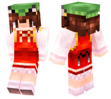 【Minecraft】 橙スキンスクショ【東方】