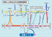 幕張メッセ周辺の公共交通機関概略図