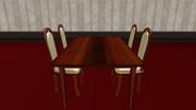 【MMD-OMF3】洋風なテーブルと椅子