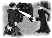 【ヴィクトリア朝でスカーレット姉妹がクトゥルフ】挿絵・プレスベリー教授研究室にて【支援】