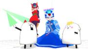 【MMD-OMF3】へたれゼロ&シエル