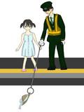 線路に下りないで!