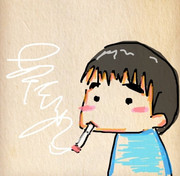 あたさん似顔絵風落書き_φ(・_・