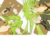 桜の中のウキョウさん