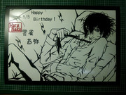 5/5 切り絵 雲雀さんHappy Birthday!