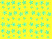 【背景素材】黄色×水色【星柄】