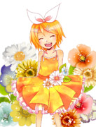 花と笑顔とリンちゃんと