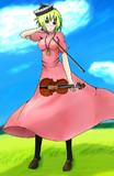 【方舟企画Ⅲ】ルナサをてゐの服で描いてみた