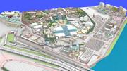 Minecraftで東京ディズニーランドを再現プロジェクトのMAPを3Dレンダリングしてみた