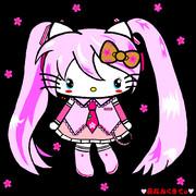 桜ミク×ハローキティ ~♥夜桜みくきてぃ♥~