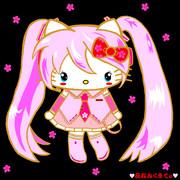 桜ミク×ハローキティ ~♥夜桜みくきてぃ♥ ver.02~