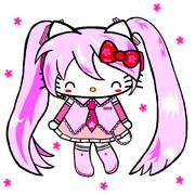桜ミク×ハローキティ ~にっこり笑顔~