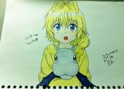 アナログで~ハスターきゅんとシャンタッ君描いてみた~(`・ω・´) 色塗った!