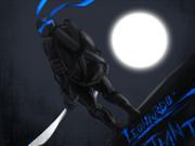 月夜に佇むレオナルド
