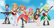 SAOの女性陣がバンド活動を始めました