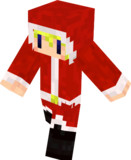 【Minecraft】サンタスキン【イメージ】