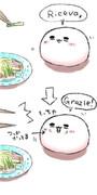 (ヘタリアおもち)冷やし中華食べてみました