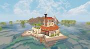 【Minecraft】海に浮かぶ別荘
