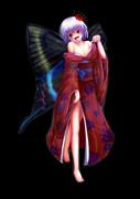 肩羽の蝶 ミヤマカラスアゲハ