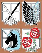進撃の巨人 兵団ロゴ