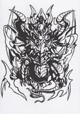 【パズドラ】ヘビーメタルドラゴン【切り絵】