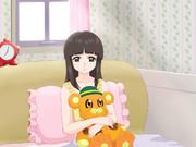 ボン太くんのぬいぐるみを抱く翔子