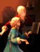 ピアノと姫仏さんとお兄さん