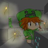 【minecraft】洞窟にて