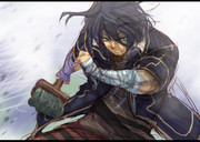 デッキブラシで戦うカブトムシ系男子