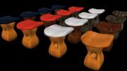 【MMD】エリンギのような椅子【配布】