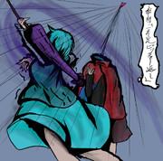 傘符「一本足ピッチャー返し」