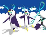 あぴ3姉妹でペンギン