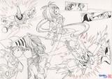 騎士と姫と(線画)