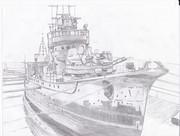 駆逐艦 野分―昭和18年 船渠にて