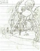 洞窟の手前