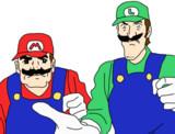 赤帽子と緑帽子のおじさん