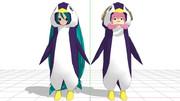 ミクペンギンとた、、、ルカペンギンです。