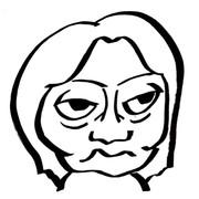 勝間和代さんの似顔絵