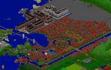 【Minecraft】  Côte Verte ~水と緑の都~ 全体マップ