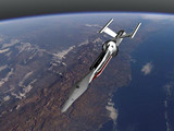 Shadeで作った宇宙船「高速フリゲート艦あかつき」