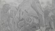 【シャーペンGIF】進撃の巨人OP(調査兵団)戦う覚悟だ♪part02