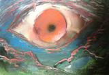 スプレーアート試作 3号 「お前を見ている」