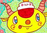 ☂頭に鏡餅乗っけ松阪牛☂