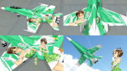 【MMD】 F/A-18C-THE IDOLMASTER2 RITSUKO- 【テクスチャ配布】