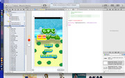 もずくのiPhoneアプリゲーム開発中・トップ画面