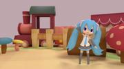 ミロさん風ミクの人形劇風 (Blender)